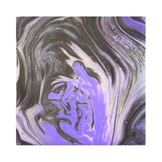 Impresión En Metal El acrílico púrpura del anillo de árbol negro y de
