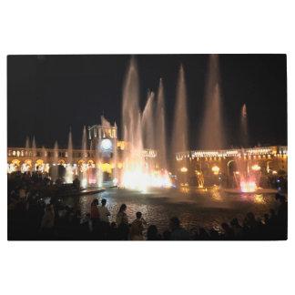 Impresión En Metal El centro de ciudad de Ereván de las fuentes,