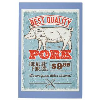 Impresión En Metal El mejor cerdo de la calidad