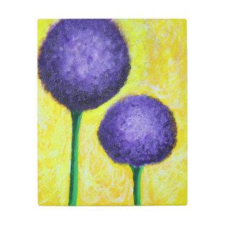 Impresión En Metal flor de la púrpura del allium