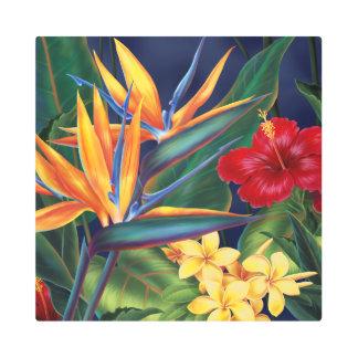 Impresión En Metal Floral hawaiano del paraíso tropical