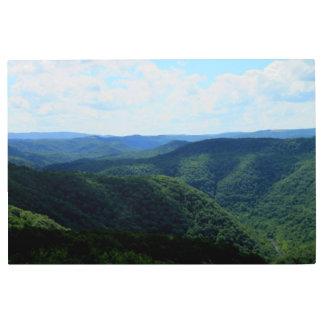 Impresión En Metal Fotografía de las colinas de Virginia Occidental