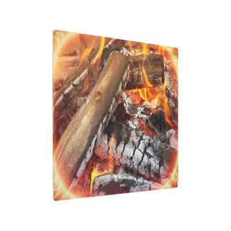 Impresión En Metal Fuego con halo