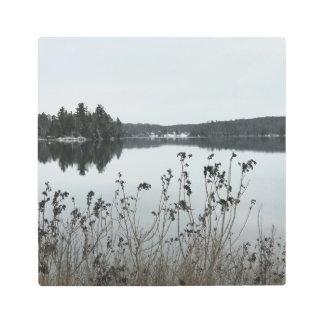Impresión En Metal Lago en caídas cristalinas, MI fortune