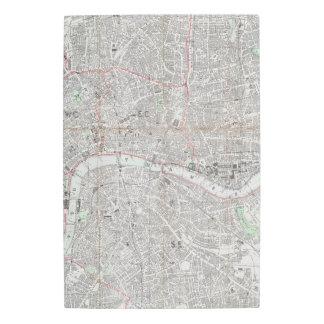 Impresión En Metal Mapa del vintage de la ciudad de Londres