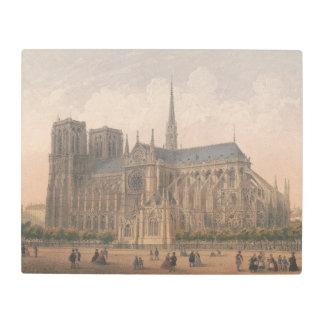 Impresión En Metal Notre Dame, litografía de París de Charles Rivière