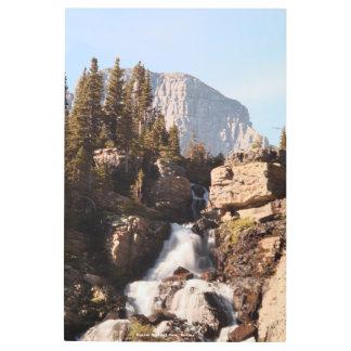 Impresión En Metal parque del glaciar de la montaña y de la cascada