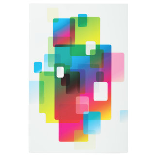 Impresión En Metal Rectángulo redondeado colorido abstracto
