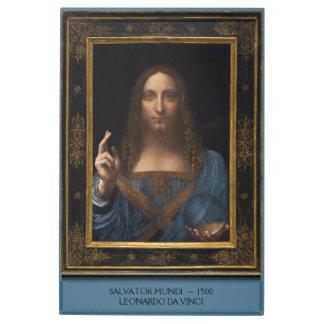 Impresión En Metal Salvator Mundi de Leonardo da Vinci circa 1500