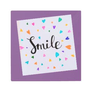 Impresión En Metal Sonrisa en una lona