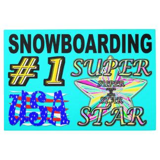 Impresión En Metal Superestrella de la snowboard de los E.E.U.U. del