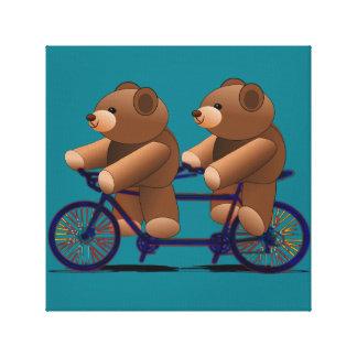 Impresión en tándem del oso de peluche de la