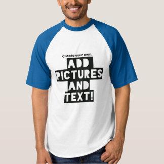 ¡Impresión en una camiseta del béisbol - añada las
