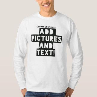 ¡Impresión en una camiseta larga de la manga -
