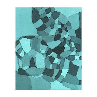 Impresión envuelta aguamarina de la lona de la