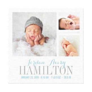 Lienzo especial bebé recién nacido, regalo original y creativo