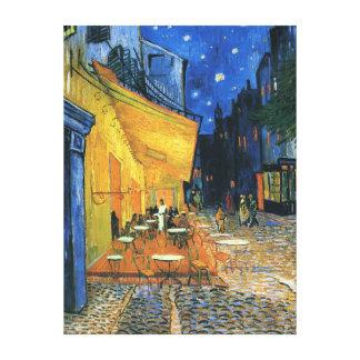"""Impresión envuelta de la lona - """"terraza del café  lienzo"""