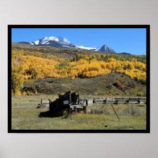 Impresión escénica de la montaña
