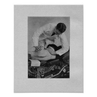 Impresión espinal del vintage del ajuste de la