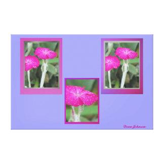 Impresión estirada de la lona - flores rosadas impresión en lienzo estirada
