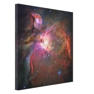 Impresión estirada nebulosa de la lona de Orión