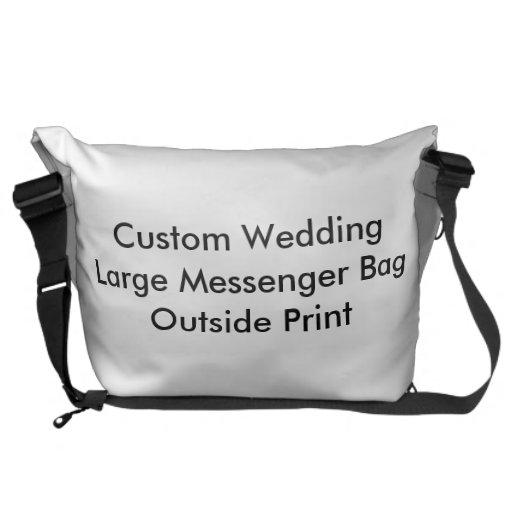 Impresión exterior de la bolsa de mensajero grande bolsas de mensajeria
