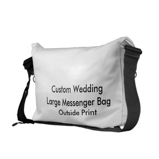 Impresión exterior de la bolsa de mensajero grande bolsa de mensajeria