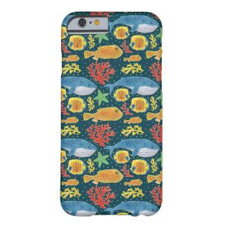 Impresión fabulosa de los animales de mar funda de iPhone 6 barely there