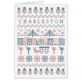 Impresión fea del suéter de Charleston Tarjeta De Felicitación
