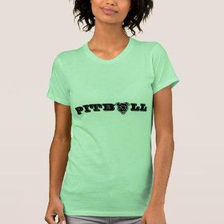Impresión feliz del logotipo de Pitbull - dueño Camisas
