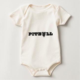 Impresión feliz del logotipo de Pitbull - dueño Body