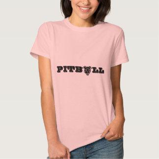 Impresión feliz del logotipo de Pitbull - dueño Camiseta