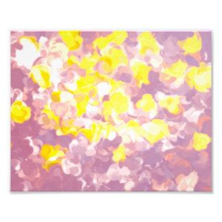 """Impresión floral 10"""" del vintage x 8"""", (satén) foto"""