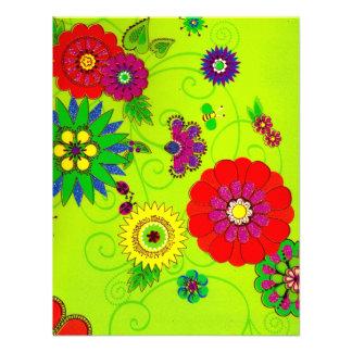 Impresión floral brillante de moda comunicados