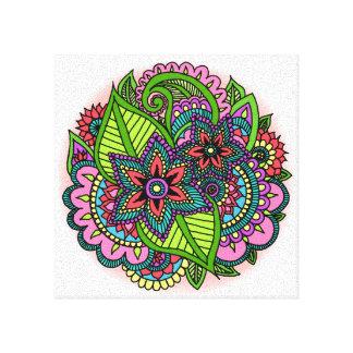 Impresión floral de la lona de la alheña