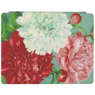 Impresión floral de los Peonies del vintage del Cubierta De iPad