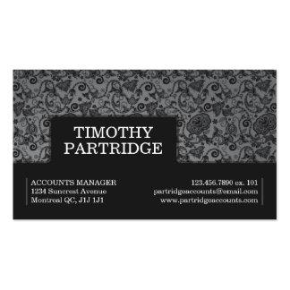 Impresión floral decorativa - gris plantilla de tarjeta personal