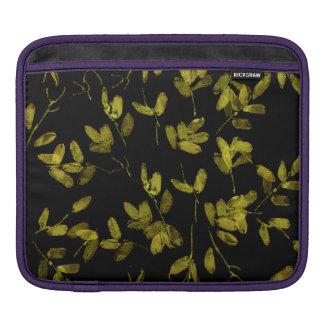 Impresión floral oscura funda para iPad