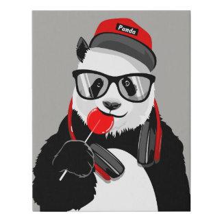 Impresión fresca del sondeo de la panda