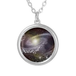 Impresión galáctica del espacio de la galaxia de colgante redondo