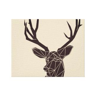 Impresión geométrica de la lona de los ciervos de