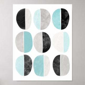 Impresión geométrica del poster del estilo