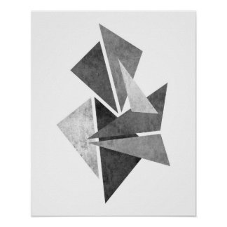 Impresión geométrica minimalista moderna del arte