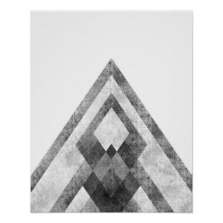 Impresión geométrica minimalista moderna del arte póster