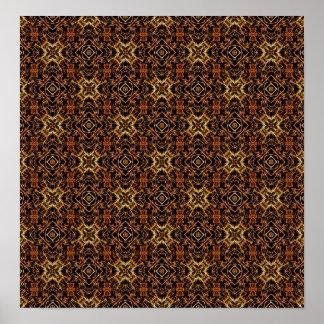 Impresión geométrica tribal