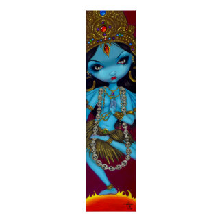 Impresión gótica del arte de la diosa hindú de