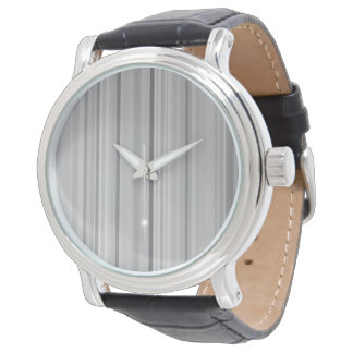 Impresión gris gris del modelo de las rayas reloj de pulsera