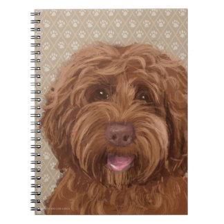 Impresión hermosa de la pintura de la pata del cuaderno