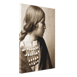Impresión india de la lona del chica del nativo am impresión de lienzo