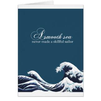Impresión inspirada del arte de la cita decoración tarjeta de felicitación